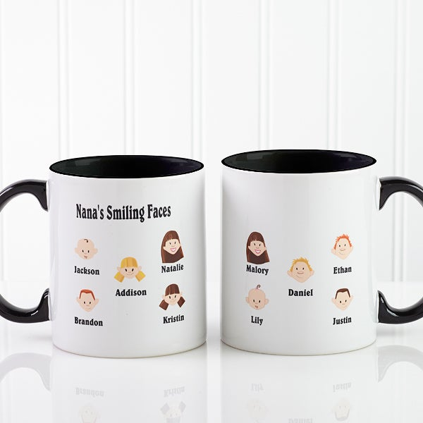 Personalized Cartoon Character Coffee Mug for Grandparents - 6704