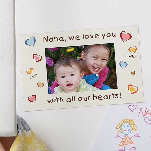 Personalized Magnet Photo Frame - All Our Hearts - 6717