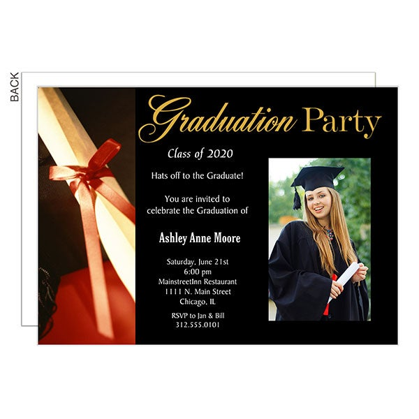 Graduation Party Invitations With Diploma