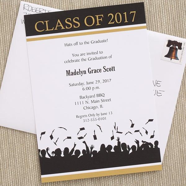 6773 Hats Are Off Graduation Invitations