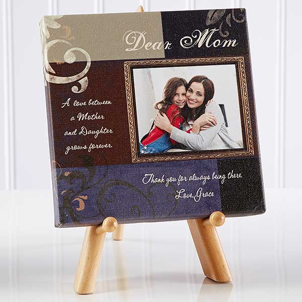 Dear Mom Personalized Photo Canvas Gifts - 6792