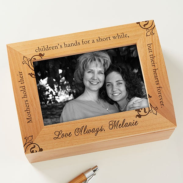 To My Mother Photo Keepsake Box :  engraved keepsake box keepsake box box gift