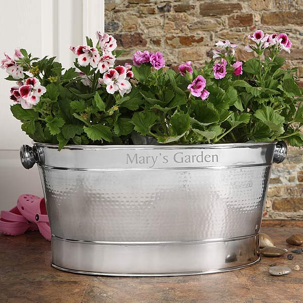 Hampton Personalized Stainless Steel Tub  - 6894