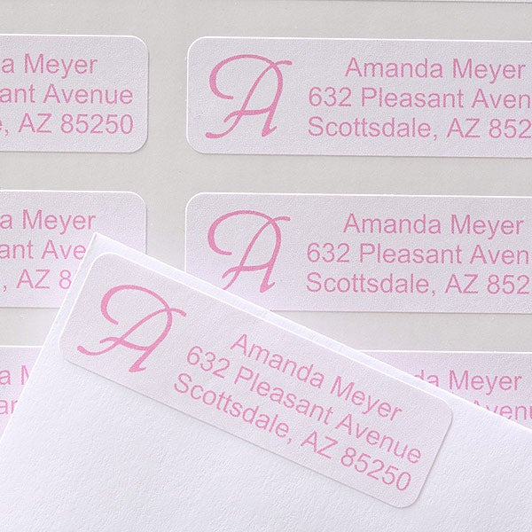 Custom Initial Personalized Address Labels - 6897