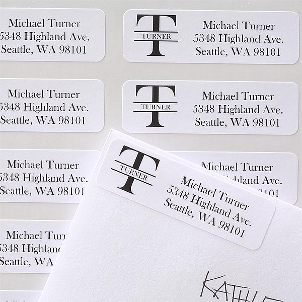 Name & Monogram Personalized Address Labels - 6901