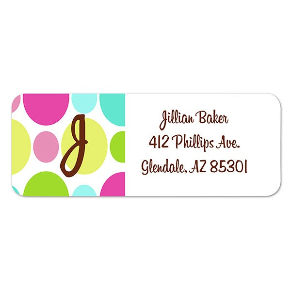 It is a photo of Selective Polka Dot Mailing Labels