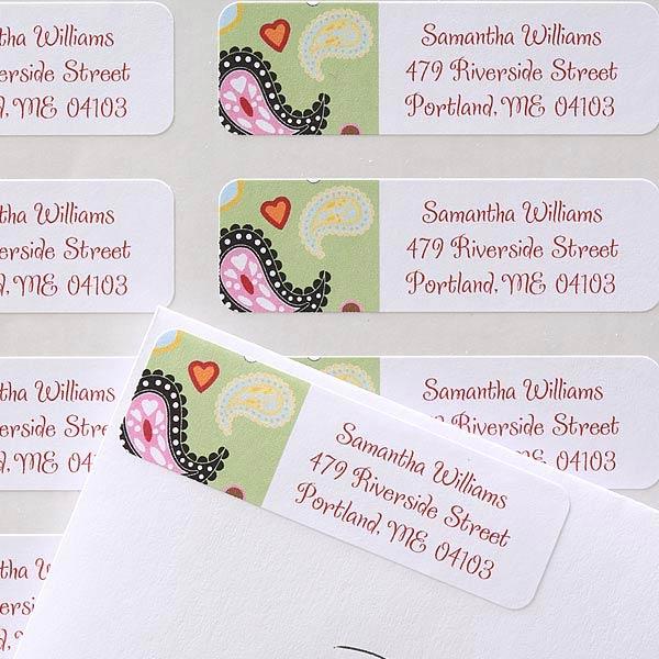 Personalized Return Address Labels - Paisley - 6921