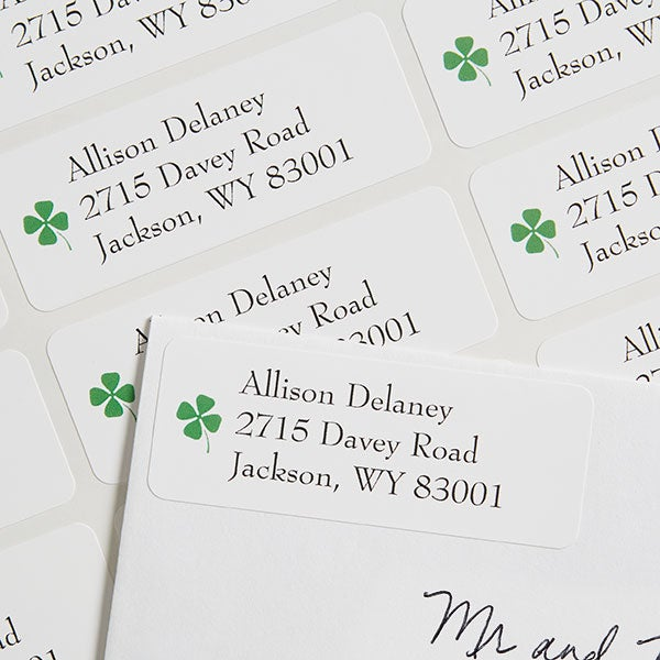 Four-Leaf Clover Personalized Return Address Labels - 6934