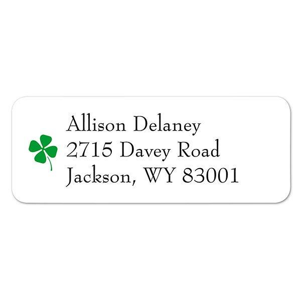 30 Ladybug on Four Leaf Clover Personalized Return Address Labels
