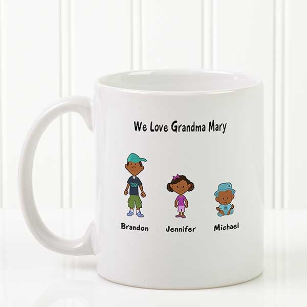 Family Cartoon Characters Personalized Coffee Mugs