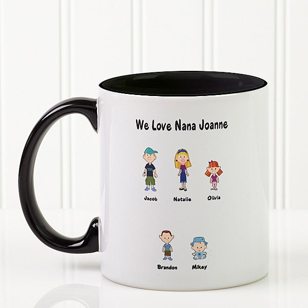 Personalized Coffee Mugs - Family Cartoon Characters - Black Handle on cards cartoon characters, licensed cartoon characters, home cartoon characters, glass cartoon characters, design cartoon characters, storage cartoon characters, balloons cartoon characters, girls cartoon characters, social cartoon characters, gift baskets cartoon characters, custom cartoon characters, women cartoon characters, diy cartoon characters, toys cartoon characters, safe cartoon characters, special cartoon characters, health cartoon characters, black cartoon characters, anniversary cartoon characters, red cartoon characters,