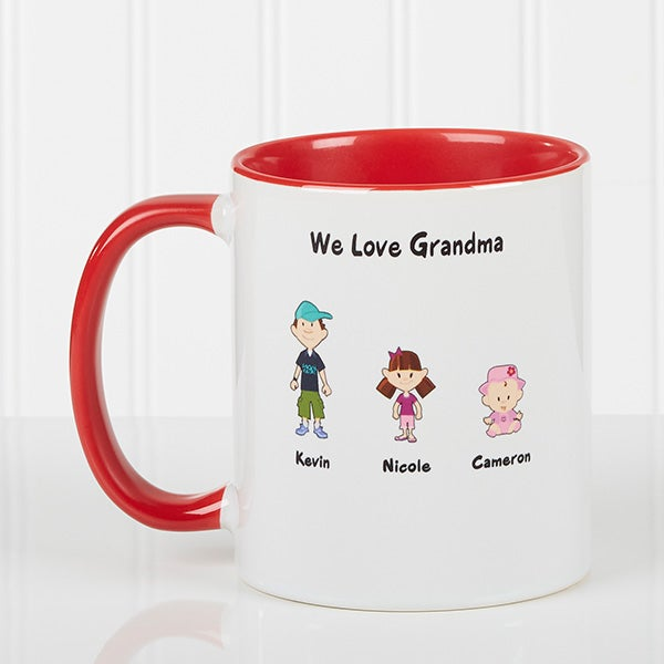 Family Cartoon Characters Personalized Coffee Mugs - 6977