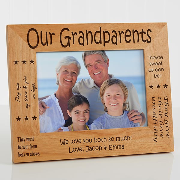 Personalized Picture Frame For Grandparents 5x7 For Him