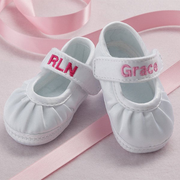 7070 personalized satin baby shoes for