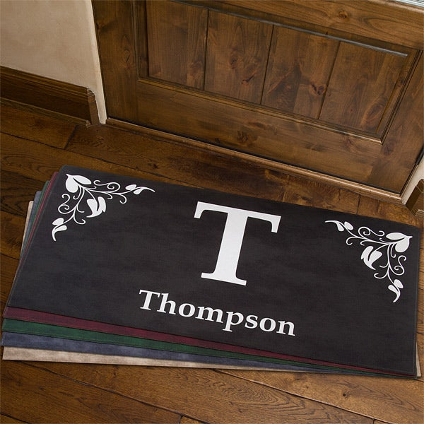 Personalized Family Doormats - Elegant Monogram - 7198