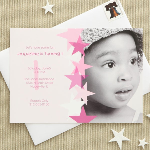 birthday star personalized birthday invitations