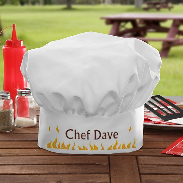 Personalized BBQ Grill Chef Hat - Still Cooking - 7217