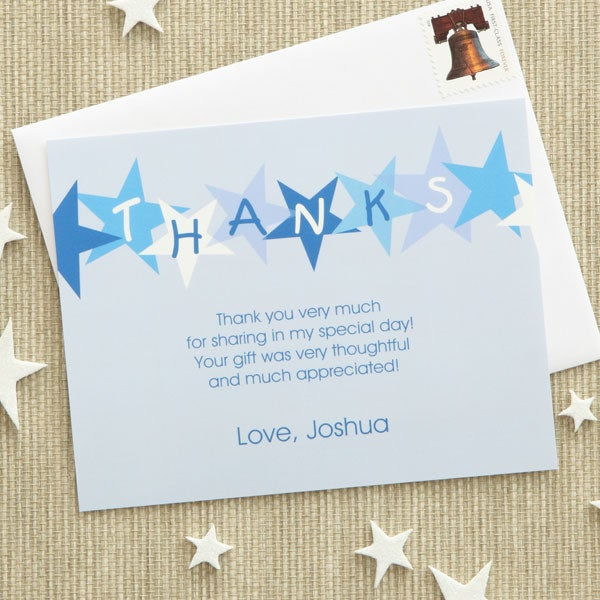 Personalized Kids Thank You Cards - Stars - 7221