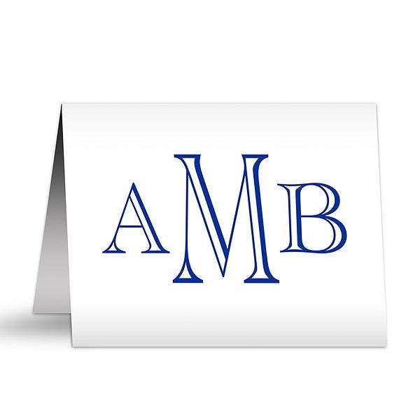 Custom Monogram Personalized Note Cards - 7231