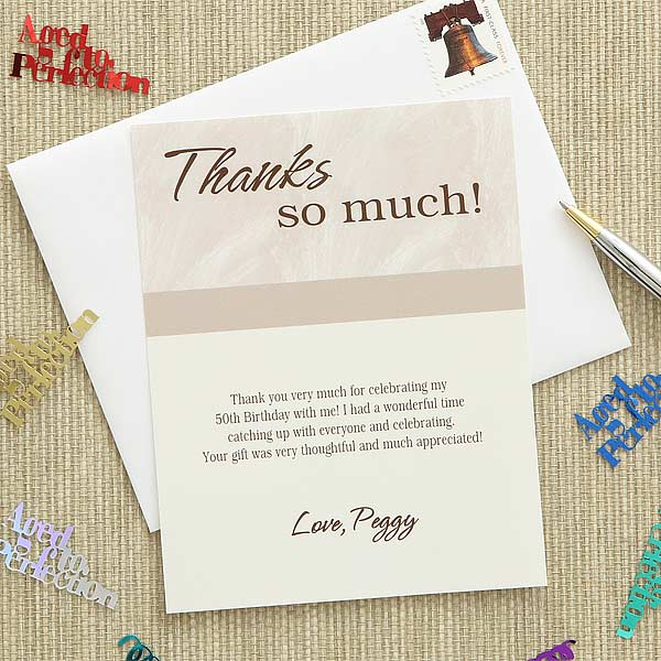 Custom Printed Thank You Cards Then