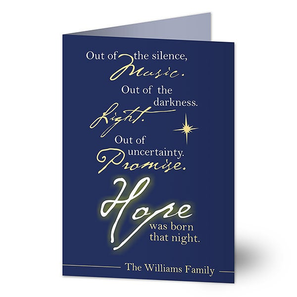 Christian Christmas Greetings.Hope Was Born Christmas Card