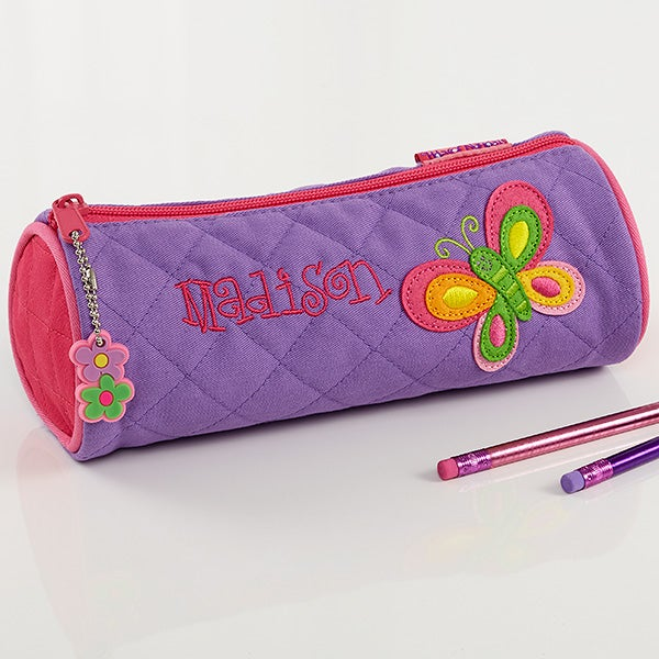 butterfly personalized girls pencil case