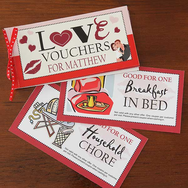 Personalized Coupon Book Romantic Gift Vouchers Of Love