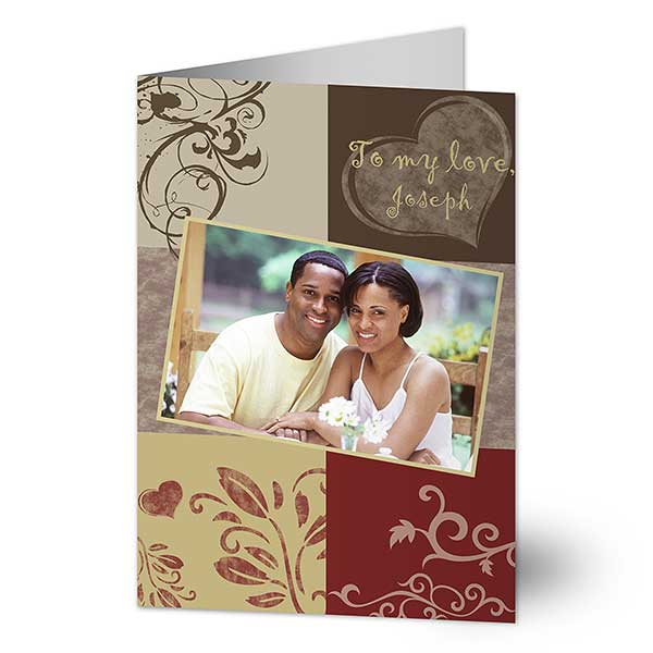 Personalized Romantic Greeting Cards - To My Love - 7471