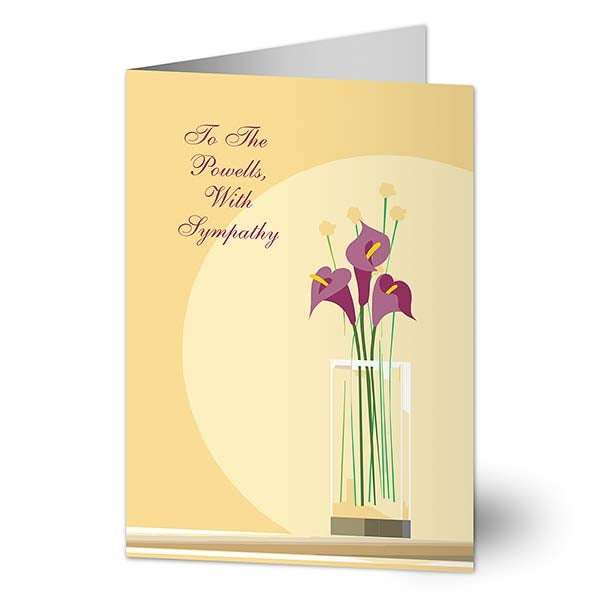 Personalized Sympathy Cards