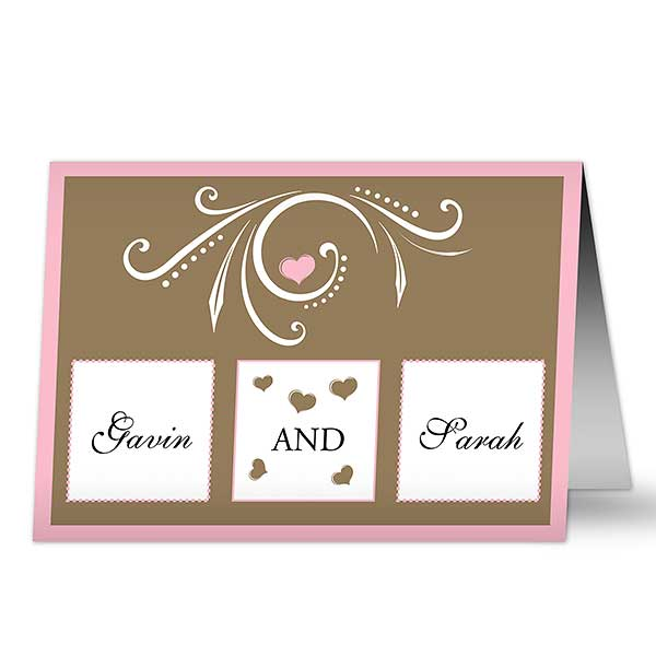 Personalized Wedding Cards - Mr and Mrs - 7484