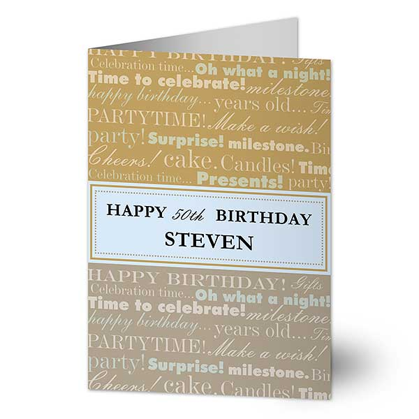 Personalized Birthday Cards For Him