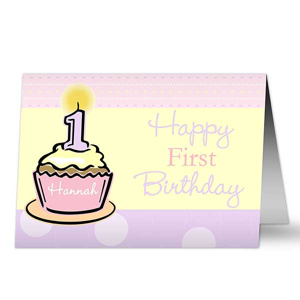 Babys First Birthday Personalized Cards