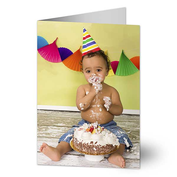 Birthday Photo Personalized Cards
