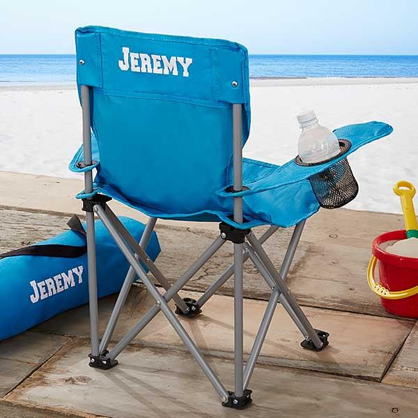 Kids Personalized Folding Chairs - Blue - 7497-B