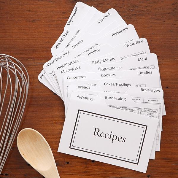 Recipe Card Box Divider Set - 7543