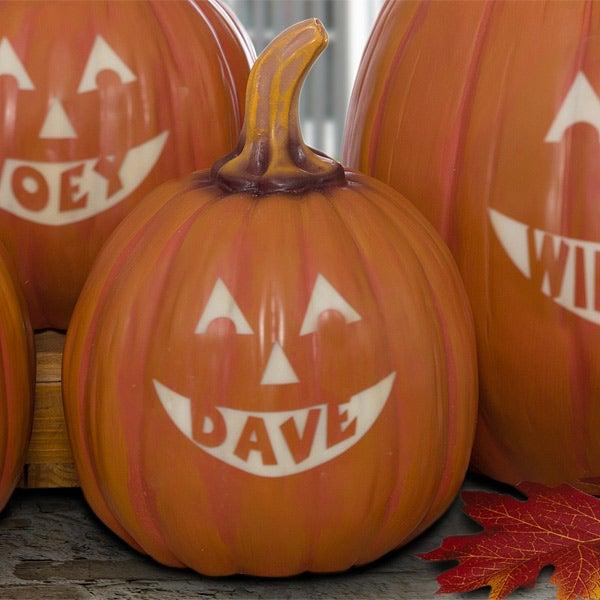 Personalized Jack-O-Lantern Halloween Pumpkins - 7566