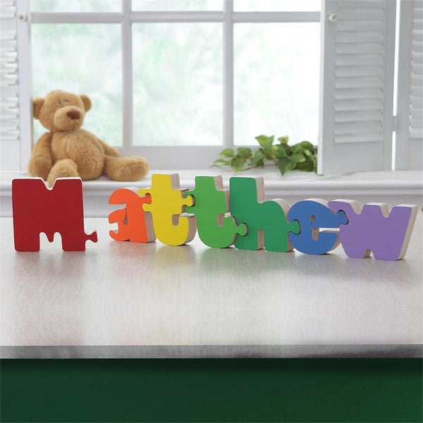 boys personalized wooden name puzzle kids gifts