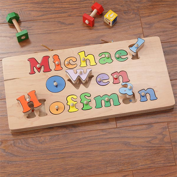 Kid's Personalized Name Puzzle Board - 7624