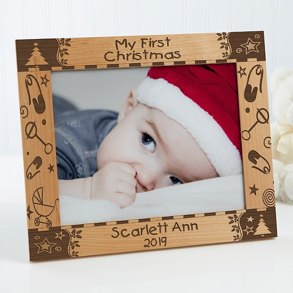 My First Christmas Personalized Baby Picture Frame 8x10