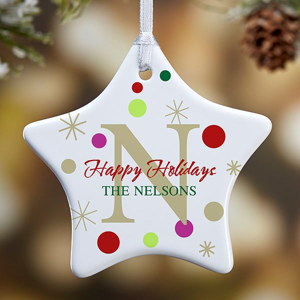Personalized Christmas Ornaments - Holiday Star - 7637