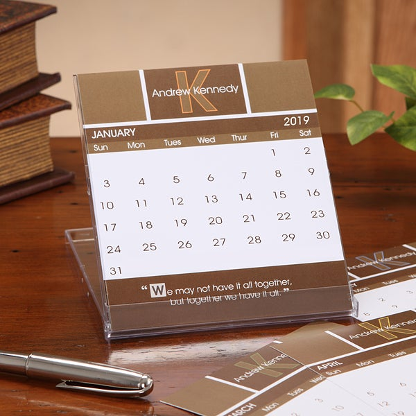 Personalized Desk Calendars Inspirational Quote