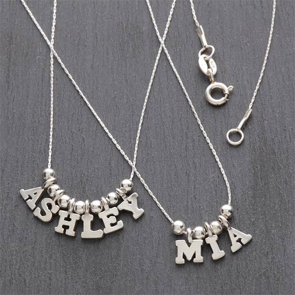 7705d one only silver personalized necklace