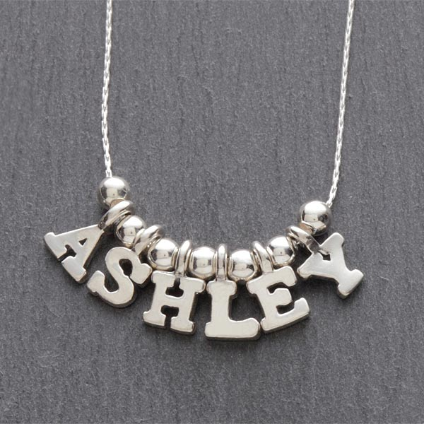 Personalized Name Silver Necklace - 7705D