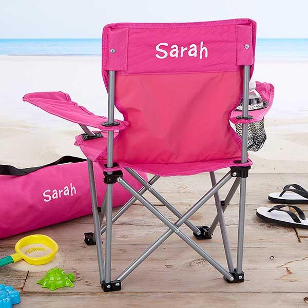 Kids Personalized Folding Chairs Pink
