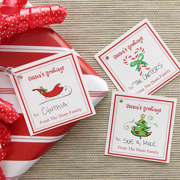 Personalized Christmas Gift Tags - Season's Greetings - 7749