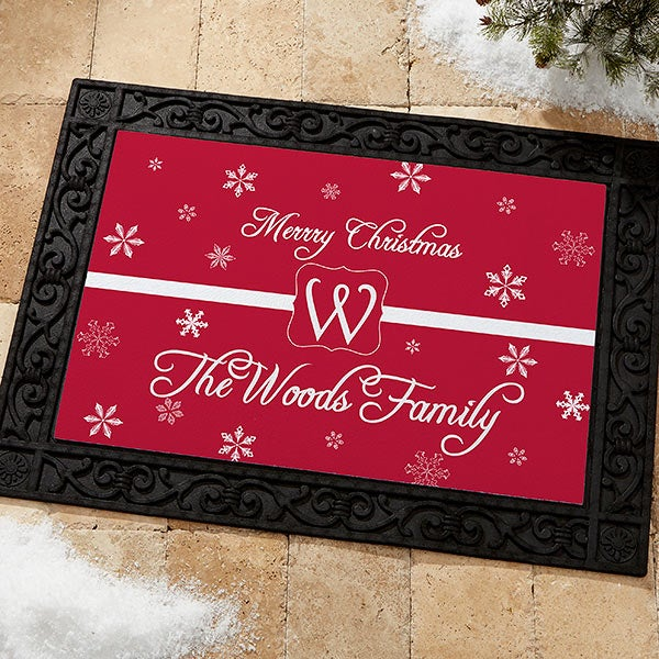 Personalized Holiday Doormat - Winter Wonderland - 7808