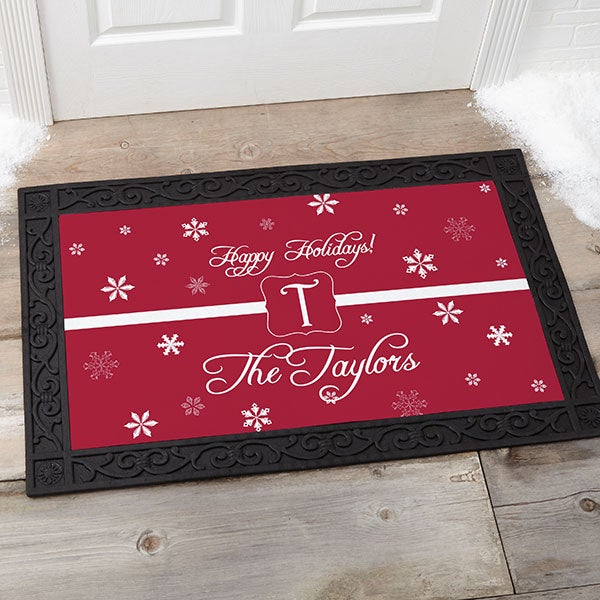 Personalized Holiday Doormat - Winter Wonderland - 7808