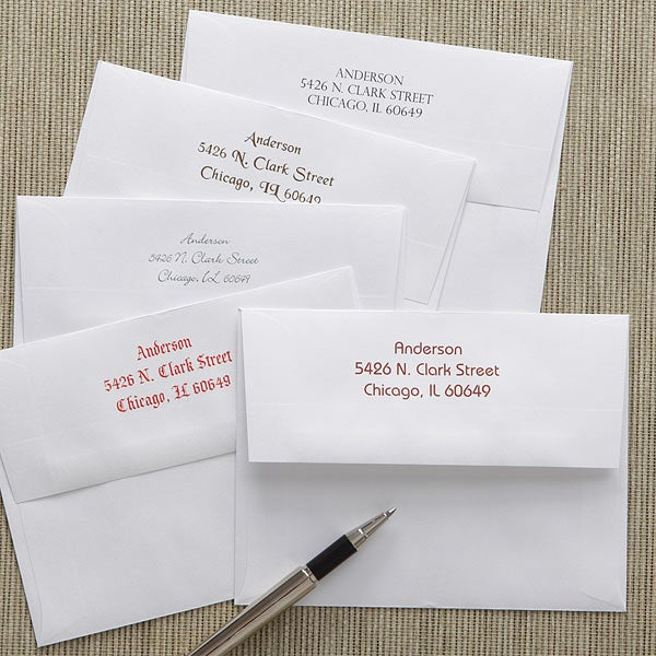 Custom Printed Greeting Card Envelopes - A2 - 7913
