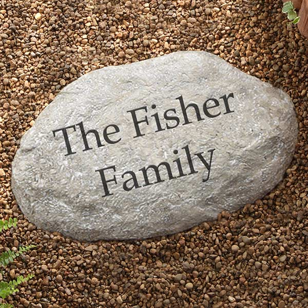 Personalized Decorative Garden Stones Large
