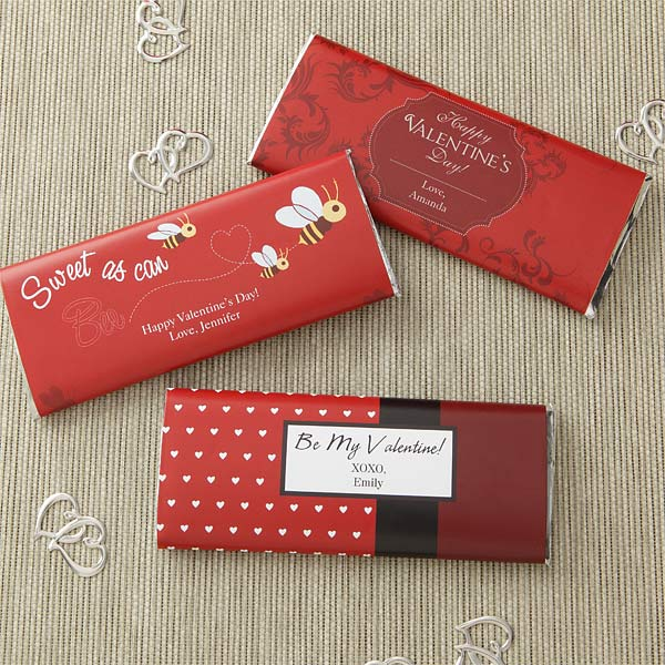 Be My Valentine Personalized Candy Bar Wrappers